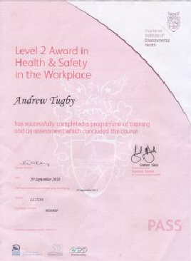 Our Health and Safety Certificate
