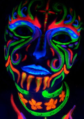 UV  Neon Glow Party face