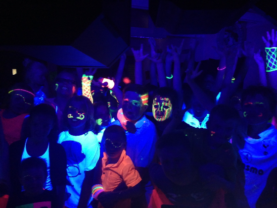 Teenagers UV Neon Glow Party