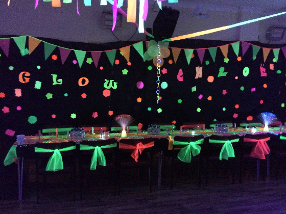 Kids UV Neon Glow Party Venue